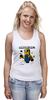 "Майка (Женская) ""MINIONCRAFT"" - minecraft, майнкрафт, banana, банан, миньон, minion, гадкия я"