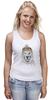 """Майка (Женская) """"Лев в шапке"""" - лев, lion, царь зверей"""
