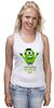"Майка (Женская) ""The Minion Hulk                 "" - супергерои, hulk, миньоны, халк, minion"