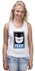 "Майка (Женская) ""Batman (Бэтмен)"" - страх, batman, fear, бэтмен"