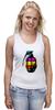 """Майка (Женская) """"Color Grenade """" - рисунок, grenade, граната, colorful, лимонка"""