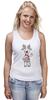 """Майка (Женская) """"Новогодняя фуфайка"""" - красивая, new year, white and snow-white, сказочная, christmas, reindeer"""