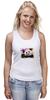 "Майка (Женская) ""Панда с леденцом"" - арт, панда, panda, lollipop, artberry"