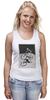 "Майка (Женская) ""девушка на велосипеде"" - спорт, bmx, велосипед, street, bike, стрит, biking, велоспорт, девушка на велосипеде, дерт"