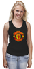 "Майка (Женская) ""Manchester United "" - красные, манчестер юнайтед, red devils, mu, manchester united, красные дьяволы, the reds, мю"