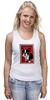 """Майка (Женская) """"Boston Terrier"""" - любовь, терьер, boston terrier, бостон терьер"""
