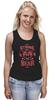 """Майка (Женская) """"Медведь"""" - арт, bear, медведь, иллюстрация, оскал"""