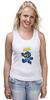 """Майка (Женская) """"Super Mario (Mega Man)"""" - nintendo, марио, mario bros"""