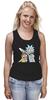 "Майка (Женская) ""Rick and Morty"" - cartoon, rick and morty, adult swim, рик и морти, купание для взрослых"