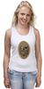 """Майка (Женская) """"с черепом"""" - skull, череп, скелет, с черепом, хипстер, пират, hipster, sailor, старый моряк"""