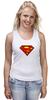 "Майка (Женская) ""superman"" - супермен, superman, dc"