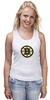 "Майка (Женская) ""Boston Bruins"" - медведь, хоккей, nhl, бостон, boston bruins"