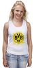 "Майка (Женская) ""боруссия дортмунд"" - логотип, германия, боруссия, дортмунд"