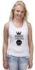 """Майка (Женская) """"Madness"""" - skull, череп, корона, фэшн, crown"""