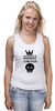 "Майка классическая ""Madness"" - skull, череп, корона, фэшн, crown"