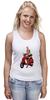"""Майка классическая """"Девушка на мотоцикле"""" - девушка, эротика, блондинка, мотоцикл"""