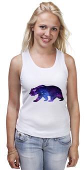 """Майка классическая """"Space animals"""" - space, bear, медведь, космос, астрономия"""