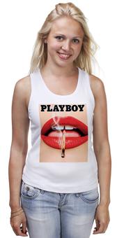 """Майка классическая """"Playboy Губы"""" - плейбой, плэйбой, playboy, девушка, губы"""