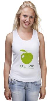 """Майка классическая """"RAW LIFE"""" - в подарок, оригинально, raw, сыроедение"""