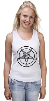 """Майка классическая """"Печать Бафомета #1"""" - дьявол, satan, сатана, devil"""