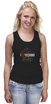 "Майка классическая ""Techno"" - техно, электронная музыка, я люблю техно"