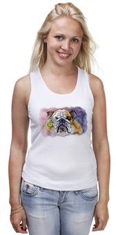 """Майка классическая """"Бульдог"""" - рисунок, собаки, bulldog, будьдог, авторсое"""