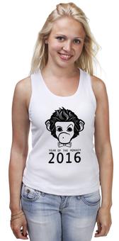 """Майка классическая """"Год Обезьяны"""" - новый год, обезьяна, monkey, 2016, год обезьяны"""