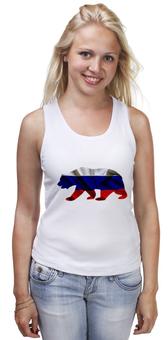 """Майка классическая """"Русский Медведь"""" - bear, медведь, русский, флаг, russian"""