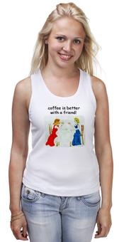 """Майка классическая """"Приятная встреча"""" - встреча, кофе, кафе"""