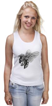 """Майка (Женская) """"Bee (Пчела)"""" - женская, в подарок, девушке, bee, пчела"""