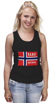 """Майка классическая """"путешествие"""" - норвежский флаг"""