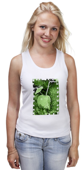 """Майка классическая """"Яблочный микс"""" - напиток, абстракция, яблоко, фрукт, натюрморт"""