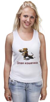 """Майка классическая """"Злая кошечка"""" - прикольные, девушке, футболка женская"""