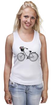 """Майка классическая """"Цветы"""" - цветы, романтика, велосипед"""