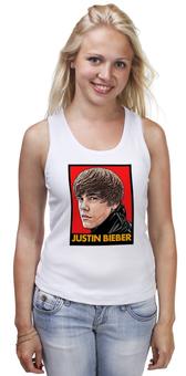 """Майка классическая """"Justin Bieber"""" - музыка, justin bieber, поп музыка, pop music, джастин бибер"""