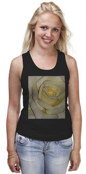 """Майка классическая """"Нежность."""" - цветок, роза, нежность, розы, белая роза"""