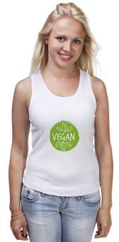 """Майка классическая """"Vegan"""" - природа, веган, vegan, go vegan, этика"""