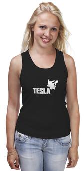 """Майка классическая """"Tesla"""" - pokemon, покемон, пикачу, тесла, pikachu"""