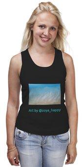 """Майка классическая """"Море. Шум прибоя"""" - женская футболка, подарок, морская тематика, майка на море, майка на отдых"""