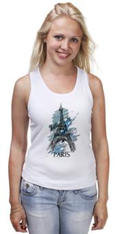"Майка (Женская) ""Эйфелева башня"" - арт, city, париж, paris, eiffel tower"
