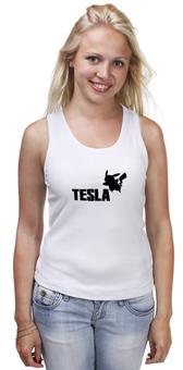 """Майка классическая """"Tesla"""" - покемон, пикачу, тесла, pikachu, pokemon go"""