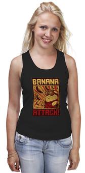 "Майка (Женская) ""Атака бананов"" - banana, миньоны, банан, гадкий я, minion"