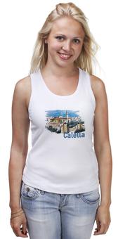 "Майка классическая ""Calella"" - рисунок, город, иллюстрация, скетч, испания"