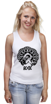 """Майка (Женская) """"AC/DC - Spasm"""" - рок, rock, acdc, spasm, спазм"""