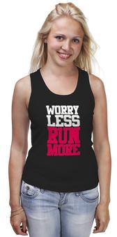 """Майка (Женская) """"Спортивное питание"""" - бег, спорт, фитнес, run, кросфит"""