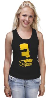 """Майка классическая """"Барт Симпсон"""" - симпсоны, the simpsons, барт симпсон"""