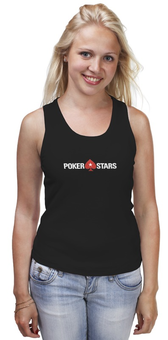 "Майка классическая ""POKERSTARS"" - покер, казино, pokerstars, casino, full tilt poker"