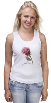 """Майка классическая """"Цветок роза"""" - арт, rose, flower, рисунок, в подарок, девушке, pink rose"""
