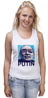 """Майка классическая """"Путин"""" - россия, путин, putin, украина, самый вежливый человек"""