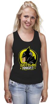 "Майка (Женская) ""Gotham Knight"" - комиксы, batman, кино, бэтмен, готэм"